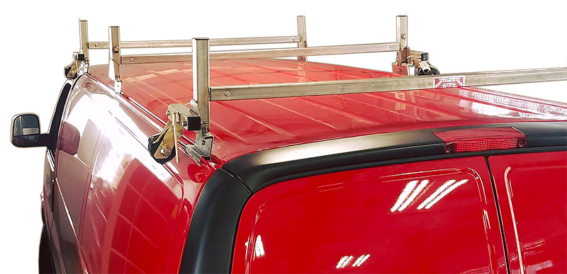 3 bar cargo van ladder rack stainless steel